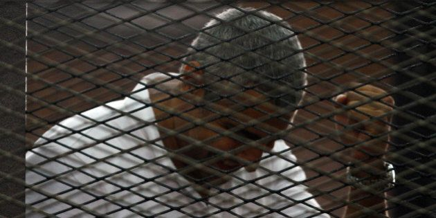 CAIRO, EGYPT - JUNE 23: An Egyptian court on Monday, June 23, handed out jail terms ranging from three...