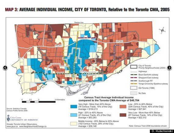 Forget Suburbs vs. City, Toronto Is Now Divided Along Income