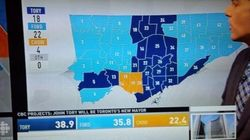 Results Map Shows Toronto Is Still A Divided