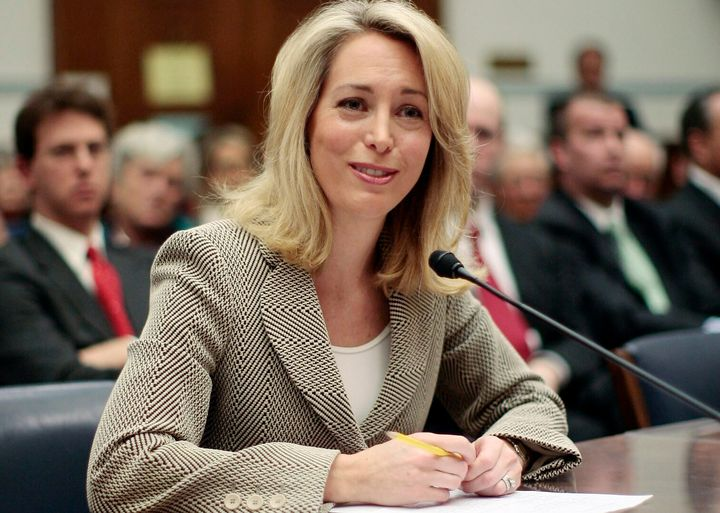 "Valerie Plame testifies before the House Oversight Committee on March 16, 2007. She said her identity was ""carelessly and rec"