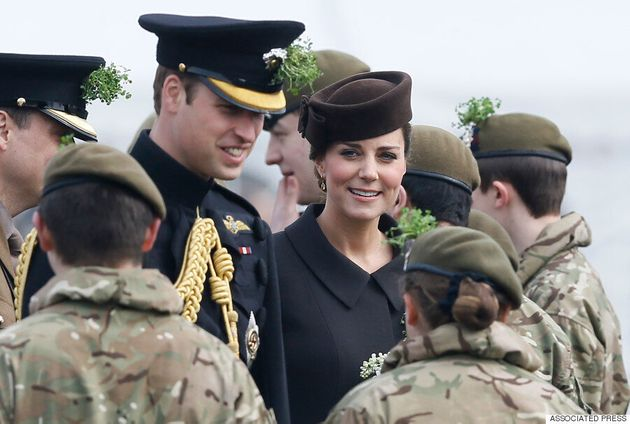 Kate Middleton Attends St. Patrick's Day Ceremony Wearing Catherine Walker