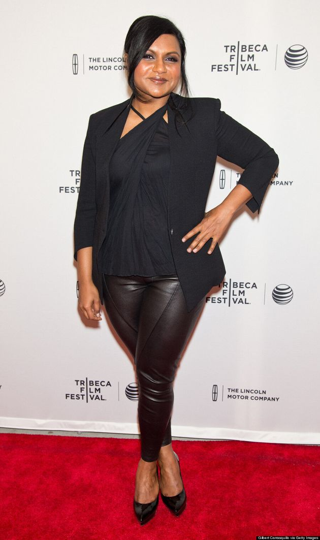 Mindy Kaling Is A Stunner In Hot Leather