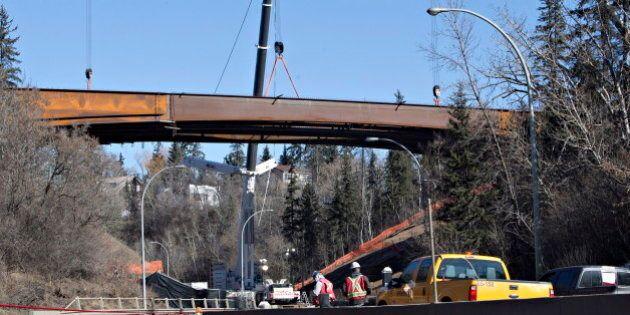 Groat Road Closed After Bridge Girders