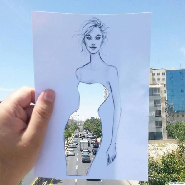 This Illustrator Has Combined Landscape And Fashion In The Most Beautiful Way