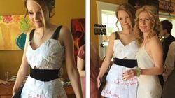 Grad Dress Made Of Math Homework Is Sending Girls To