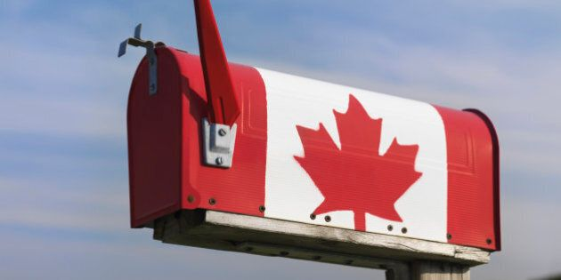 Mailbox with a Canadian, Ontario,
