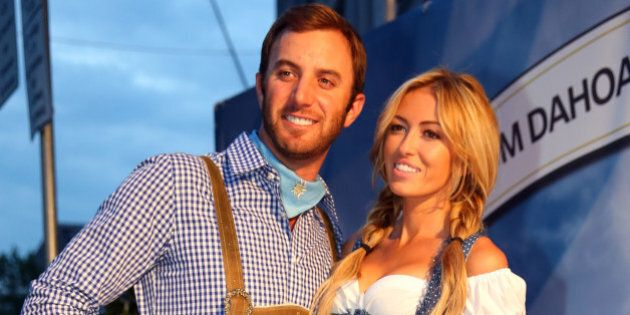 MUNICH, GERMANY - JUNE 21: Dustin Johnson attends with Paulina Gretzky the BMW International Open 25th...