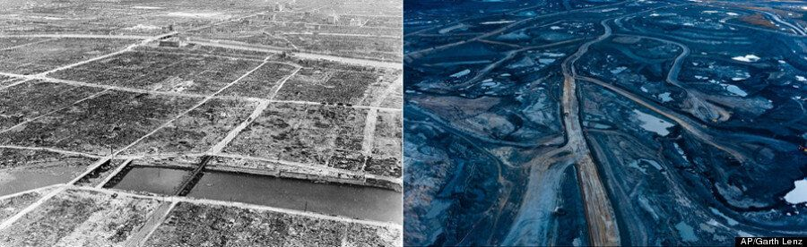 The Oilsands Really Do Look Like Hiroshima