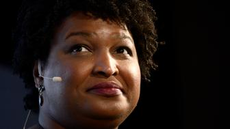 Stacey Abrams speaks about politics and her life during a Radio Times interview by Marty Moss-Coane for a life audience at WHYY in Philadelphia, PA on April 5, 2019. (Photo by Bastiaan Slabbers/NurPhoto via Getty Images)