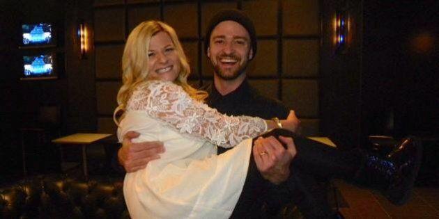 Amanda Renneberg, Edmonton Woman, Meets Justin Timberlake