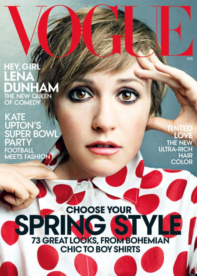 Lena Dunham's First Vogue Cover Is Another Close-Up Shot