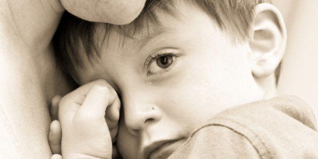 nice image of a young upset boy ...