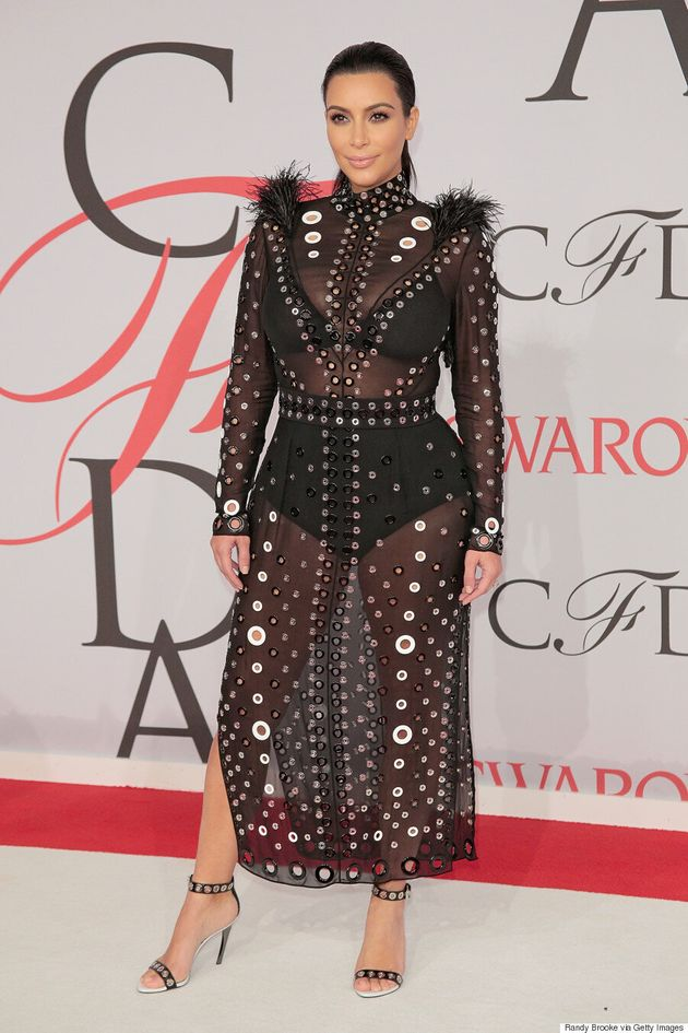 Kim Kardashian Rocks Yet Another Sheer Dress At CFDA Fashion Awards