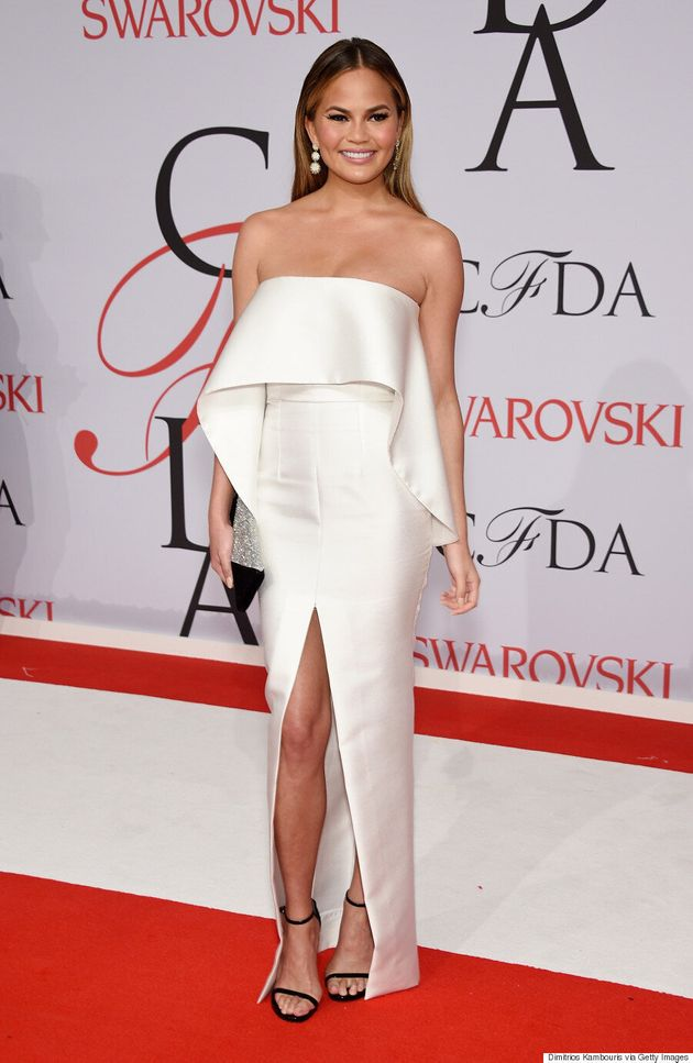 Chrissy Teigen Handles 2015 CFDA Fashion Awards Wardrobe Malfunction Like A