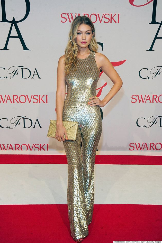 Gigi Hadid is A Golden Disco Goddess At CFDA Fashion Awards