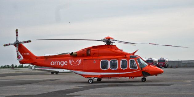 An ORNGE helicopter sits at Toronto's Island Airport, Saturday June 16, 2012. TARA WALTON/TORONTO STAR...
