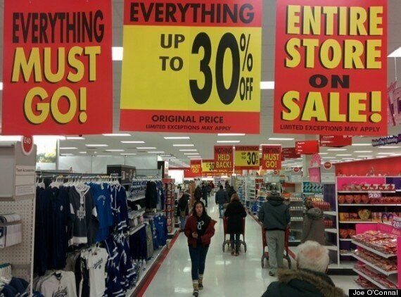 Target Canada's Liquidation Sale Begins With Pre-Dawn Line
