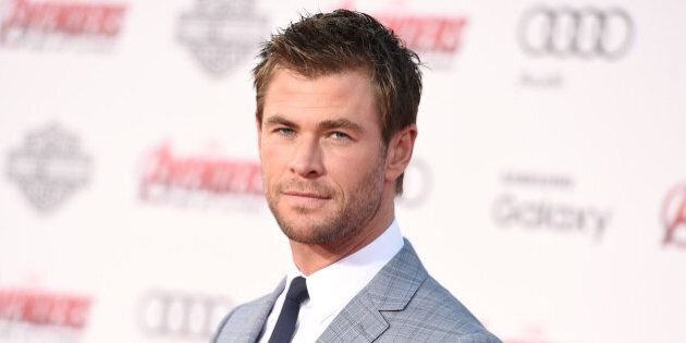 Chris Hemsworth arrives at the Los Angeles premiere of