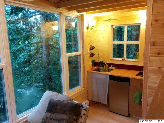 Tiny House Treehouse In Pender Island Is 'Stability' For