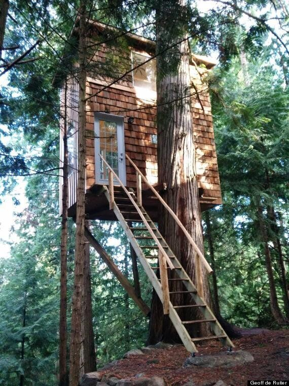Tiny House Treehouse In Pender Island Is Stability For Owner