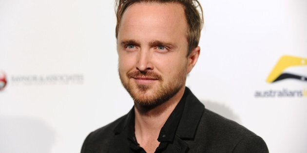 LOS ANGELES, CA - OCTOBER 16:  Actor Aaron Paul attends the premiere of 'Felony' at Harmony Gold Theatre on October 16, 2014 in Los Angeles, California.  (Photo by Jason LaVeris/FilmMagic)