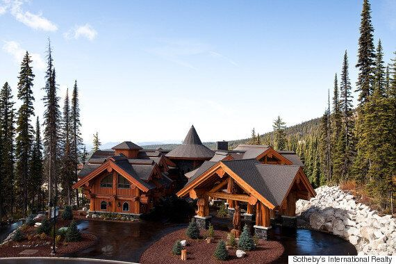 Big White Luxury Log Castle Crafted From Centuries-Old Trees