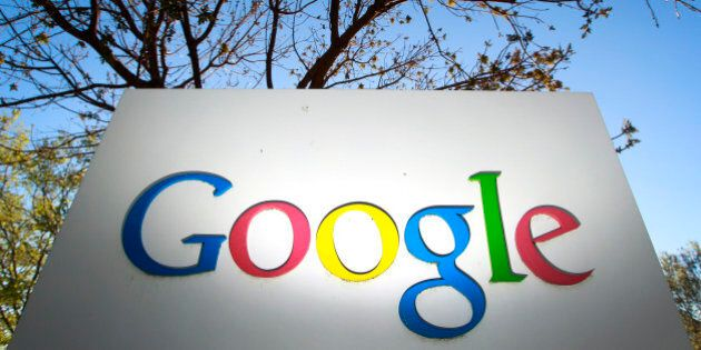 Google Inc. signage is displayed at the company's headquarters in Mountain View, California, U.S., on...