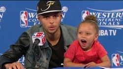 Stephen Curry's Daughter Riley Steals The Spotlight
