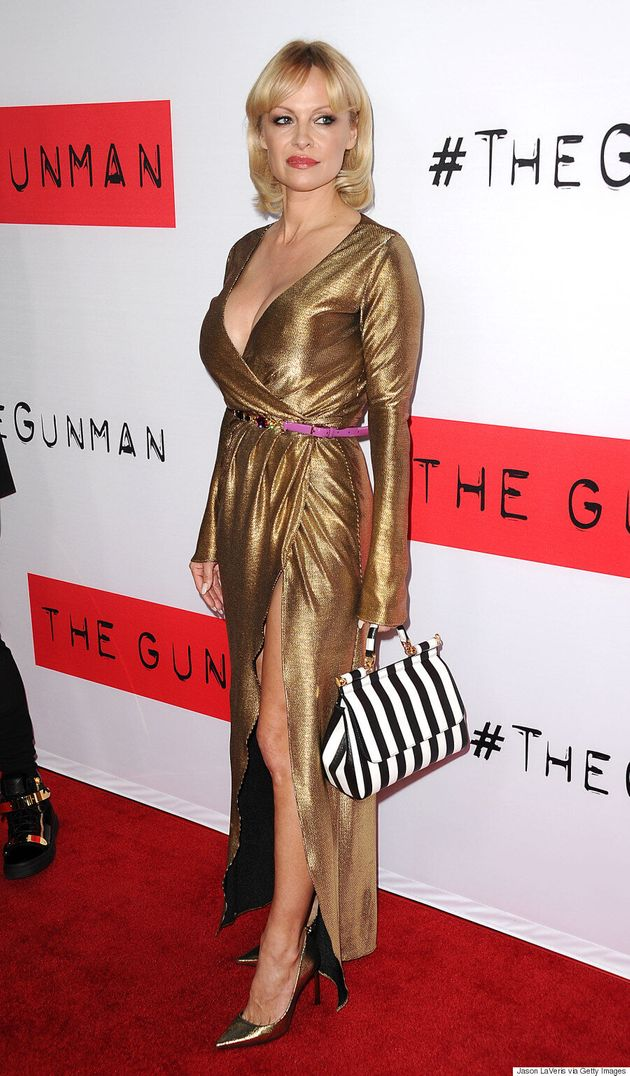 Pamela Anderson Goes Full-Out Glam On The Red