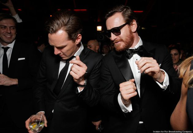 Benedict Cumberbatch Golden Globes 2014: 'Sherlock' Star Dances With Michael Fassbender