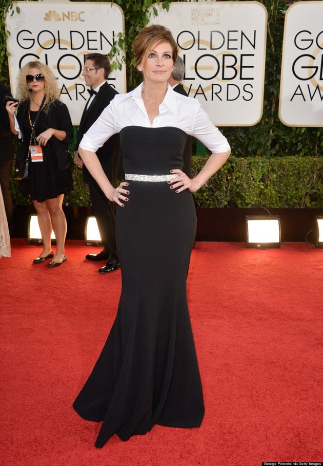 Julia Roberts Golden Globes 2014: Now This Is How You Dress For Your Age (VIDEO,