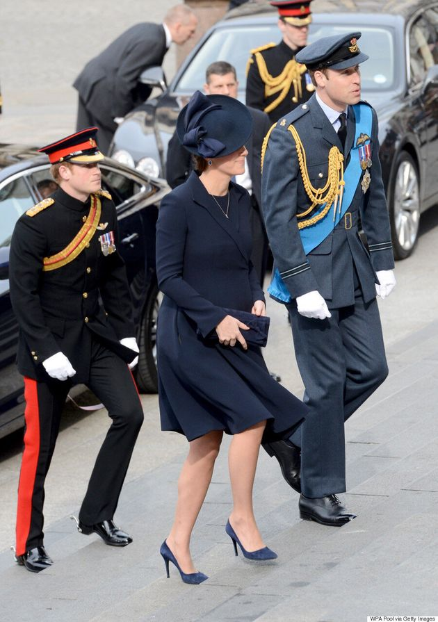 Kate Middleton Looks Chic In Navy At Commemorative