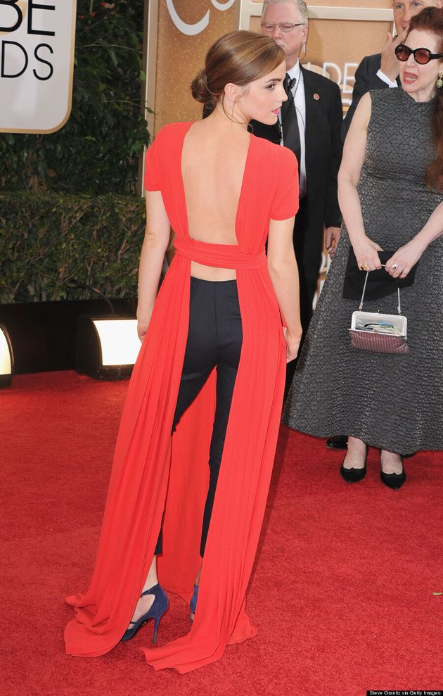 Emma Watson's Golden Globes 2014 Outfit Is The Coolest Because She Wore Pants
