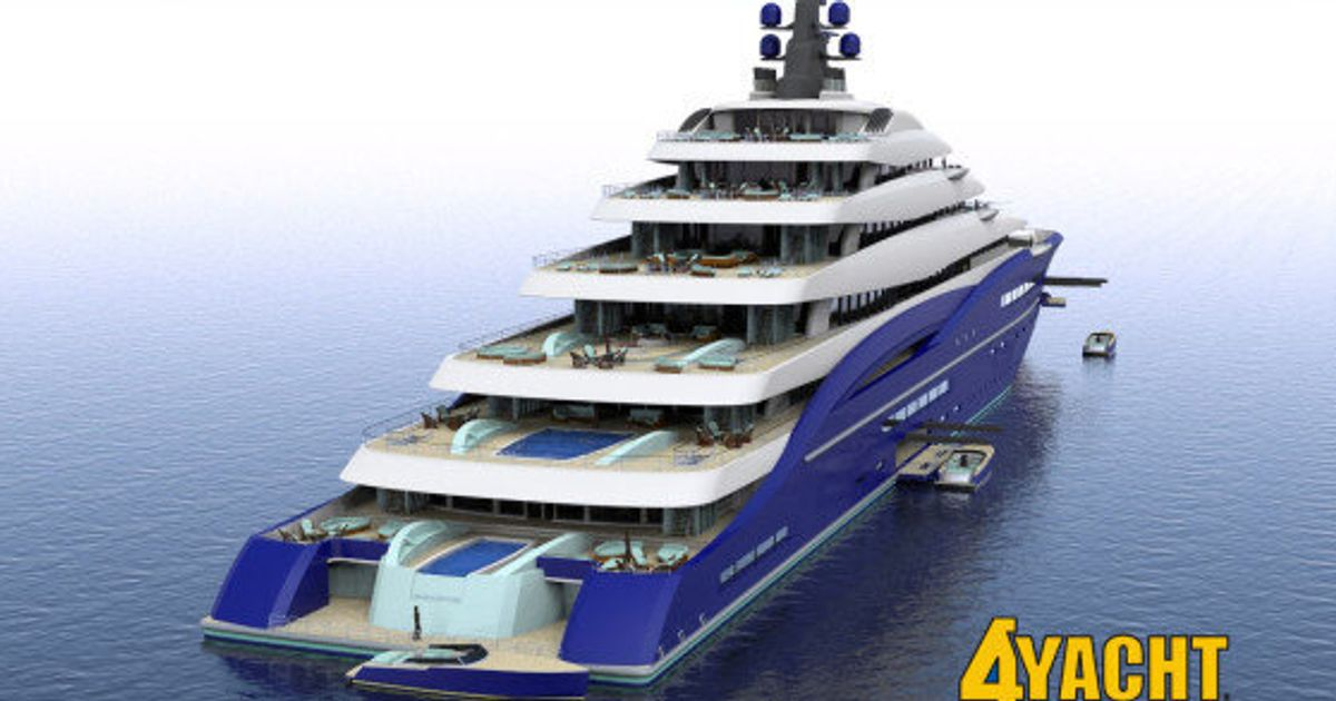 Look Double Century Soon To Be World S Biggest Gigayacht On