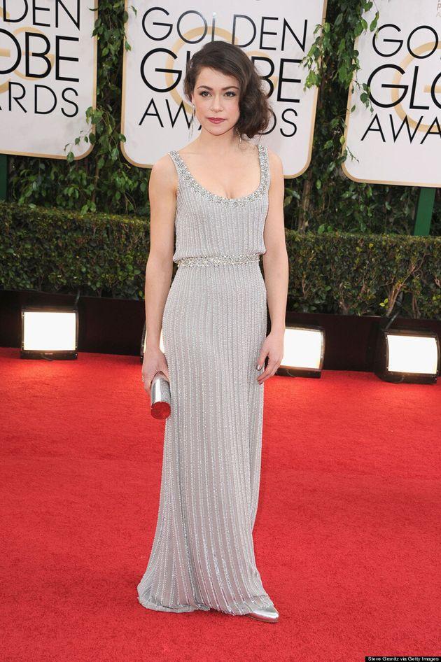 Tatiana Maslany Golden Globes 2014: 'Orphan Black' Star Makes Red Carpet Debut