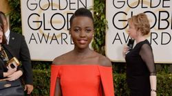 Lupita Nyong'o Rocks A Cape At The Golden