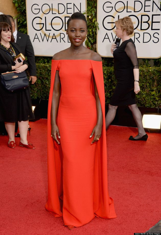 Lupita Nyong'o Golden Globes 2014: '12 Years A Slave' Star Rocks A Cape