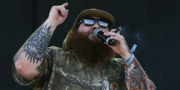 Action Bronson performs at the 2015 Coachella Music and Arts Festival on Friday, April 17, 2015, in Indio,...