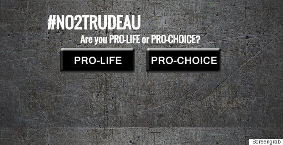 #No2Trudeau: Anti-Abortion Groups Target Liberal
