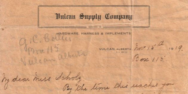 Letter Mailed From Vulcan, Alta. Almost A Century Ago Returns