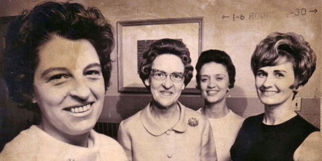 A treasure from the family archives... That's my mother in law Mary Ellen Page Sr. (Murnie) on the left, with other teachers from Tolono Jr. High School.  Circa 1966.(No I didn't take the shot, I was only six!)