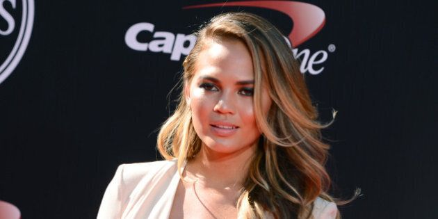 Model Chrissy Teigen arrives at the ESPY Awards at the Nokia Theatre on Wednesday, July 16, 2014, in...