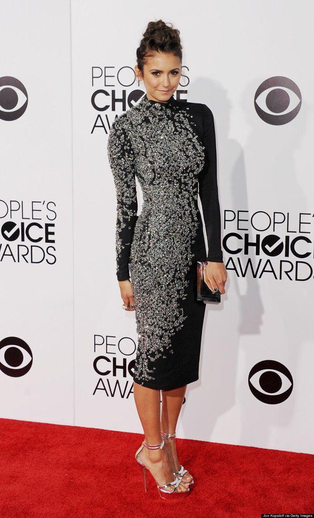 Nina Dobrev People's Choice Awards 2014: 'Vampire Diaries' Star Wears Jenny Packham