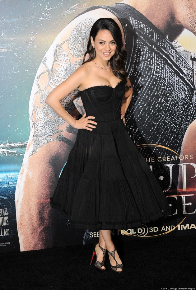 Mila Kunis Makes First Red Carpet Appearance Since Giving