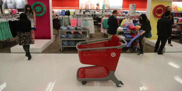 TORONTO, ON - MARCH 27: Target opens its Danforth location (3003) with a red carpet 'premiere.' featuring...