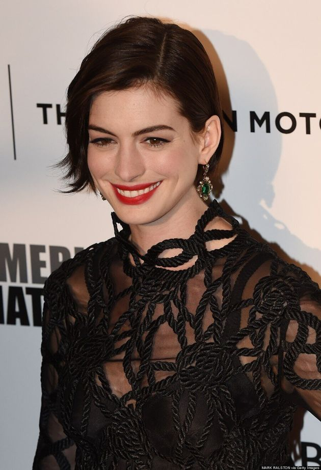 Anne Hathaway Makes Getting 'Tangled Up' Look
