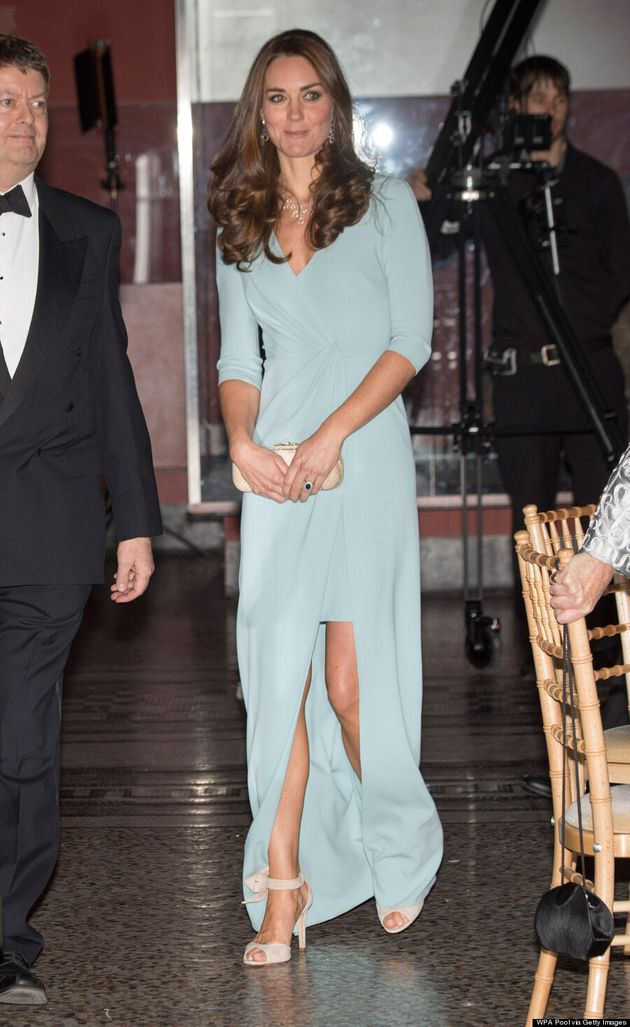 Duchess Of Cambridge Goes Glam In Sexy Gown