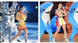 Katy Perry's Super Bowl Halftime Show Outfits Look