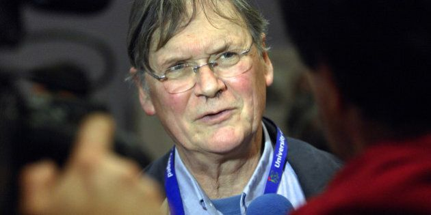 English biochemist, the Nobel-prize winner Sir Richard Timothy 'Tim' Hunt meets with the press at the...