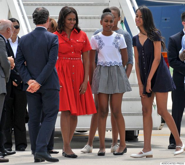 Michelle Obama Almost Has A 'Marilyn Monroe Moment' While Arriving In